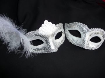 His & Hers Silver Glitter Masks b (1)